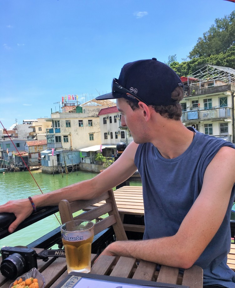 michael l beer in Tai O Hong Kong.
