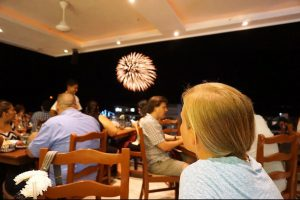 Delicious food and fireworks show in Puerto Vallarta, Mexico