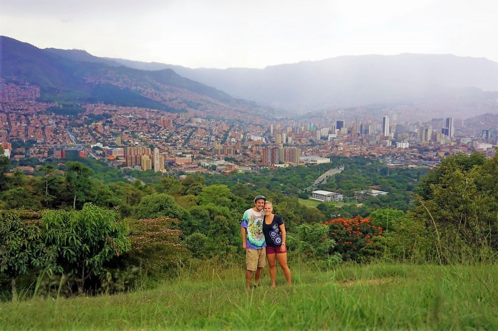 Taking in the views of Medellin, Colombia