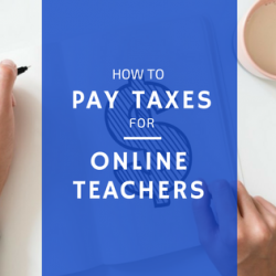 how to pay taxes for online teachers title image